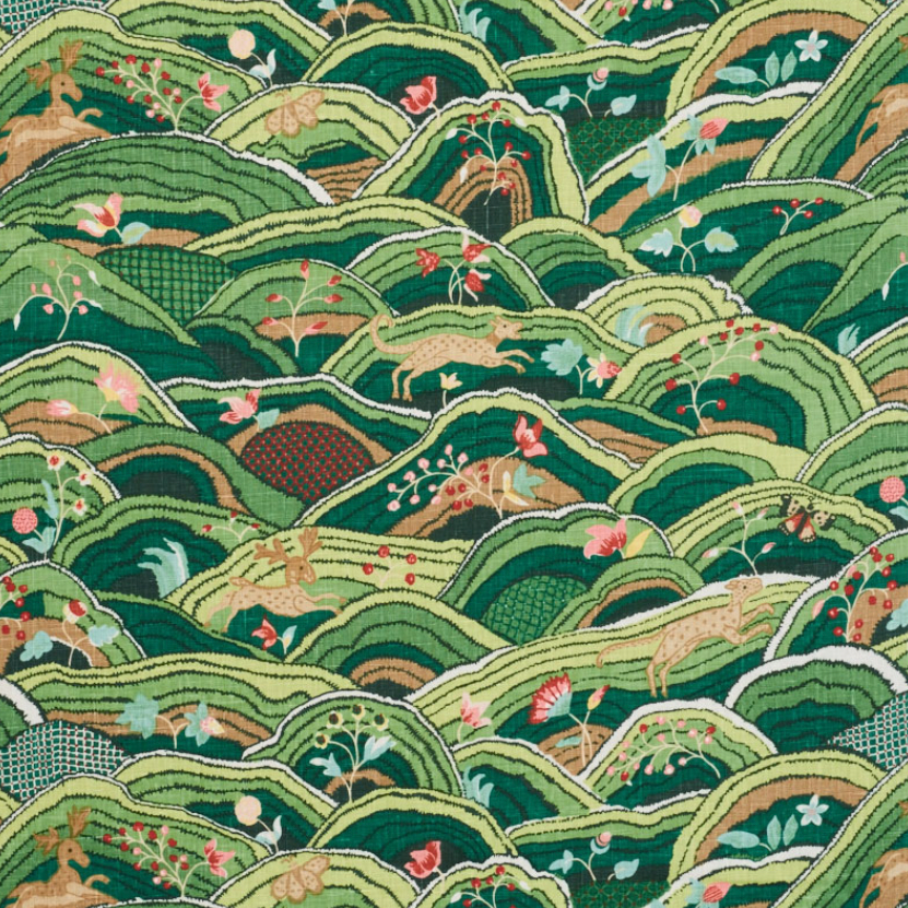 The image of an Schumacher 'Rolling Hills' Fabric product
