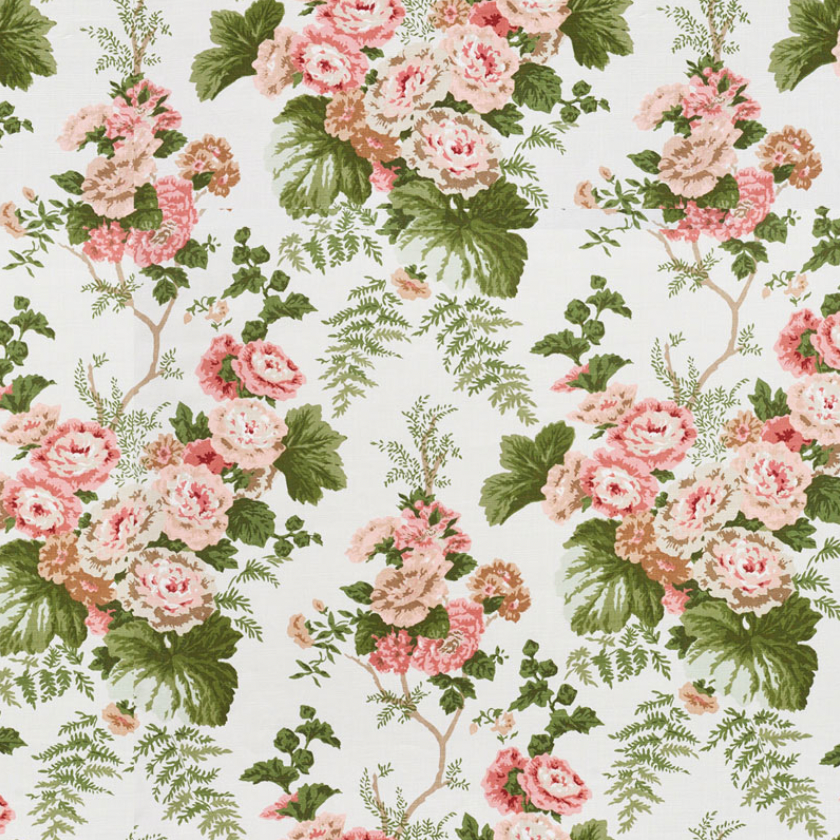 The image of an Hollyhock Print Fabric product